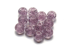 Polaris Kugeln 6 mm rose glitter - 10 Stk.